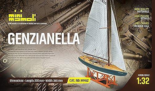 Mini MAMOLI - Modello kit Barca Star GENZIANELLA Serie MINIMAMOLI in Scala 1 32 - DUS_MM62