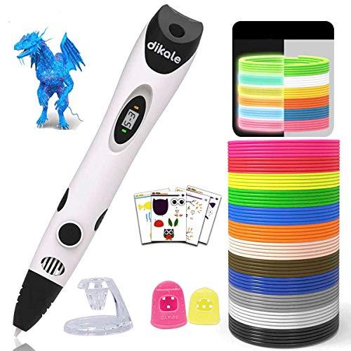 3D Stift Set für Kinder mit PLA 12 Farben für Kritzelei, Basteln, Zeichnung, Kunstwerk, einzigartige Geburtstags-und Weihnachtsgeschenke für Kinder und Erwachsene