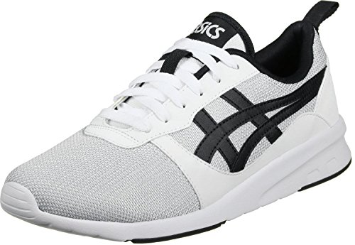 ASICS Lyte-Jogger Zapatillas, Hombre, Blanca/Gris/Negra, 44
