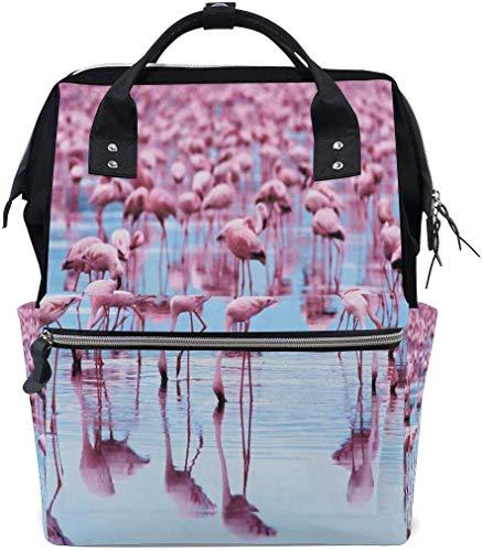 Flamingo wat de Flock luier zakken grote reizen luier verpleegkundige rugzak mama tas