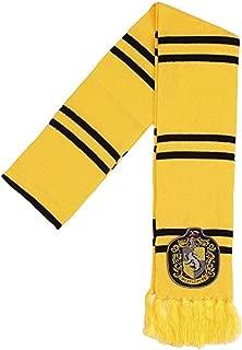 Hufflepuff Patch Knit Scarf,Yellow,One Size