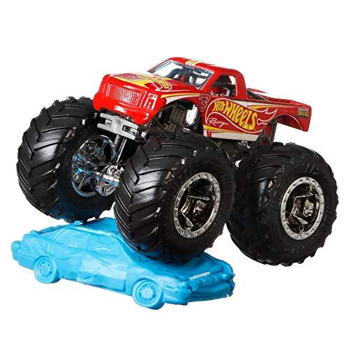 Hot Wheels GNW44 - Monster Trucks 1:64 Hot Wheels Racing #3, mit riesigen Rädern zum Sammeln mit Bonus-Accessoire,...