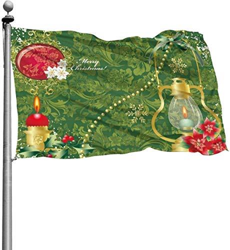 N/A Kerst Decoratie Kaars Duurzame Yard Tuin Vlaggen Seizoensgebonden Home Decoratief voor Binnen & Buiten (4x6 Ft)