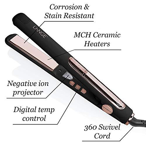 """L'Ange Hair Le Rêve Titanium Straightener - 2 in 1 Ceramic Hair Straightener - Titanium Hair Straightener with Dual Voltage - Ionic Straightener with Digital Display - 1"""" Plate, MSRP $179.00"""