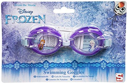 Mädchen Jungen Kinder Disney Die Eiskönigin Schwimmbrille für Kinder ab 3Jahren Frozen - Purple