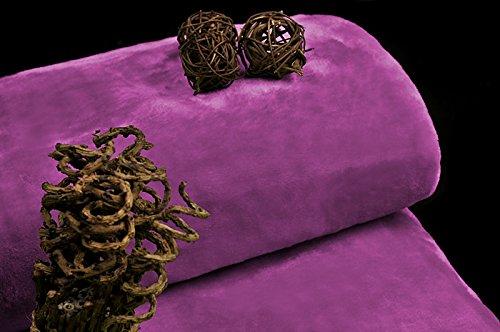 DecoKing 160x210 rosa Amaranth Acryldecke Acryl Kuscheldecke Wohndecke Tagesdecke Decke kuschelweich hautfre&lich