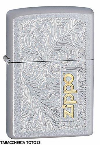 Zippo 352-TT Accendino a Benzina, Ottone, Cromato, 5,70 x 3,70 x 1,20 cm