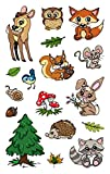AVERY Zweckform 56792 Metallic Stickers, Waldtiere, 17 Aufkleber