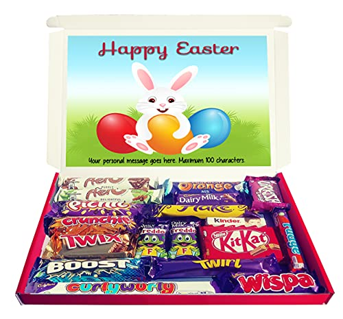 Personalised Easter Bunny Chocolate Selection Box Gift Hamper for Kids