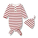 Baby Gown Newborn Boy Girl Nightgown Sleeper Sleep Sack Unisex Sleepwear Infant Winter Clothes Set with Hat
