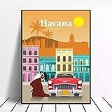 Puzzle De 1000 Piezas Para Adultos,Cartel De Arquitectura De La Ciudad De La Habana Rompecabezas, Rompecabezas De Madera Para Adultos Juegos De Puzzle Familia Divertido Piso Rompecabezas Juguetes Educ