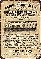 アートサインティンメタルサイン、1898年のメリックスレッド-面白い鉄絵ヴィンテージメタルプラーク装飾警告サインバーパークのアートワークポスターをぶら下げ