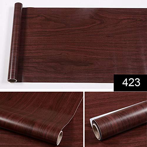yuandp Waterdichte PVC-sticker, rol vinylbehang, meubels, houtnerf, papier, zelfklevende folie, kastdeur sticker, 45 cm x 5 m