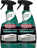 Weiman Granite Daily Clean & Shine with - 24 Ounce (2 Pack) Safely Clean Disinfect and Shine Granite Marble Soapstone Quartz Quartzite Slate Limestone Corian Laminate Tile Countertop