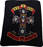 Guns N Roses - Unisex-Adult Cross Fleece Blanket, Size: O/S, Color: Grey