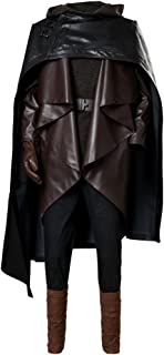 Men's Luke Skywalker Outfit The Last Jedi Halloween Cosplay Costume Balck
