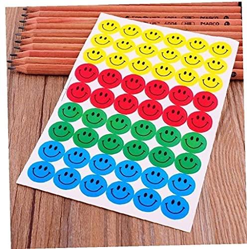 10 stks Kinderen Glimlach Beloning Stickers School Leraar Verdienste Lof Klasse Papier Lable