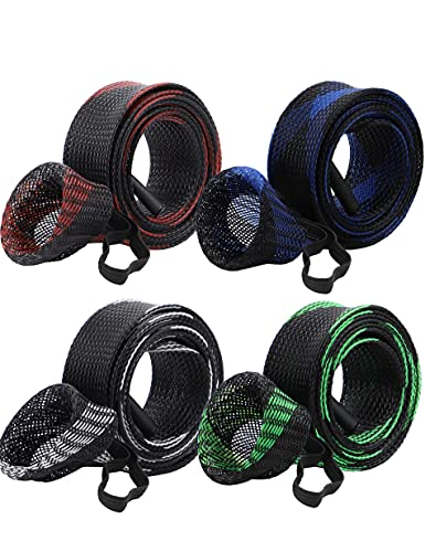 Beoccudo Rod Socks Fishing Rod Sleeve, Rod Covers for Spinning Baitcasting Rod Fishing Pole Covers with Elastic Strap