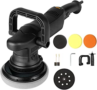 1250W 220 V 3800r/min Maximum Speed Car Polishing Machine 15mm Shock Polishing Machine Six Speed Stepless Adjustable Dual ...