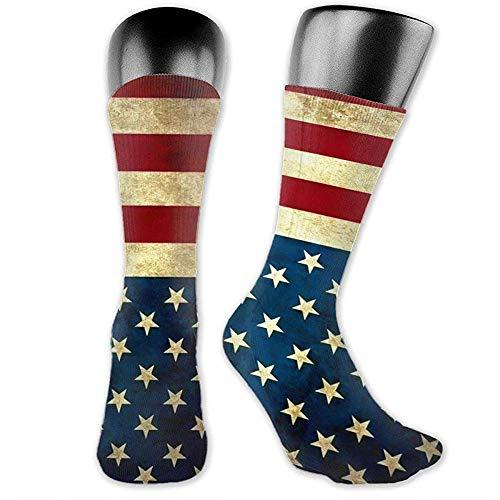 WlyFK - Calcetines de equipación de fútbol, con bandera de Estados Unidos y bandera de Estados Unidos, transpirables, sin costuras, para balones de graduación