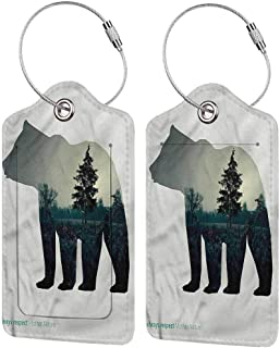 Cabin luggage tags for kids Always Respect Mother Nature Baggage tag suitcase carry it with you 2.85