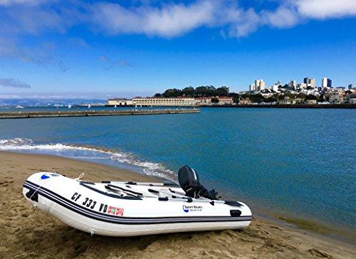 Inflatable Sport Boats Killer Whale 10.8' - Model SB-330-2021 Model - Aluminum Floor Premium Heat Welded Dinghy with Seat Bag