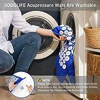 SODOLIFE Set Tappetino Agopressione, Cuscino e Tappetino Massaggio per Rilassare Il Corpo, Alleviare Il Dolore alla Schiena e al Collo - con Borsa #5