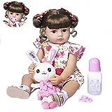 FACAIA Rebirth Doll, Juguetes para niños Reborn 22 Pulgadas 55 cm de Cuerpo Completo de Silicona Bebe Doll Reborn niña pequeña muñeca Suave Tacto Real Flexible con anatómicamente