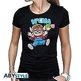 ABYstyle - Camiseta para Mujer (Talla M), diseño de Arale & Gacchan, Color Negro