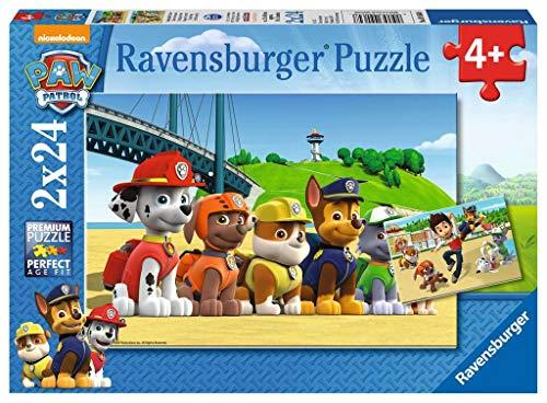 Ravensburger Puzzle Paw Patrol A Puzzle 2x24 pz Puzzle per Bambini