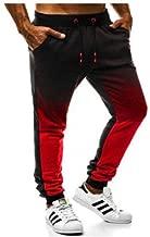 UHFIA Men Casual Gradient Sweatpants Male Winter Elastic Waist Pencil Pants Sportswear Workout Trousers slackslong Pants