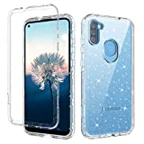 YINLAI Samsung Galaxy A11 Case Crystal Clear Bling Three Layer Hybrid Hard PC Cover Flexible Soft TPU Rubber Bumper Shockproof Protective Phone Case for Samsung Galaxy A11,Transparent