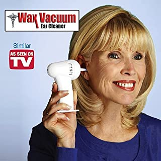 MILEX As Seen on TV Ear Wax Vac Cordless Earwax Examining Light Remover and Cleaner with Gentle Suction