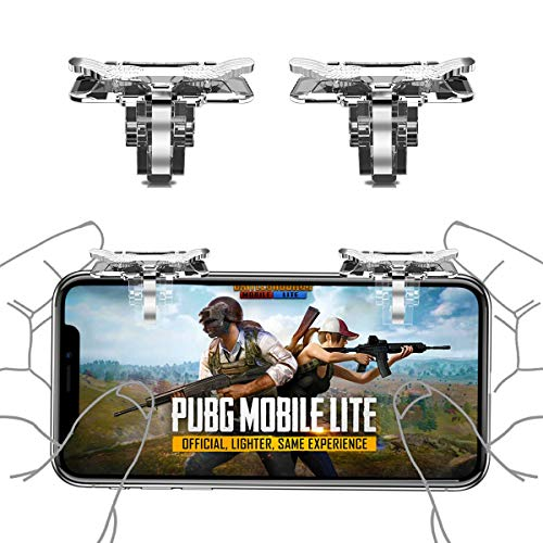 Newseego PUBG Mobile Game Controller Trigger, L1R1-Handy-Controller Cool Wings Trigger Sensitive Shoot- & Aim-Button für PUBG/Knives Out für Android und IOS