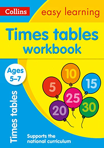 Times Tables Workbook Ages 5-7: Ideal for home learning (Collins Easy Learning KS1)