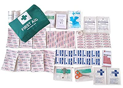 First Aid Kit Trauma Safety Bag 94 Pieces with antiseptic bacterial wipes for Travel Car Home Camping Work Survival CE Approved by TempIR