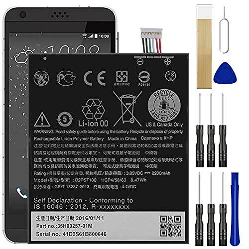 for T-Mobile HTC A16 Desire 530 Replacement Battery BL-T36 with Free Toolkit Adhesive