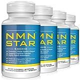 Suplemento de mononucleótido de nicotinamida NMN, cápsula de 500 mg, energía y antienvejecimiento, 60 unidades (4-PACK)