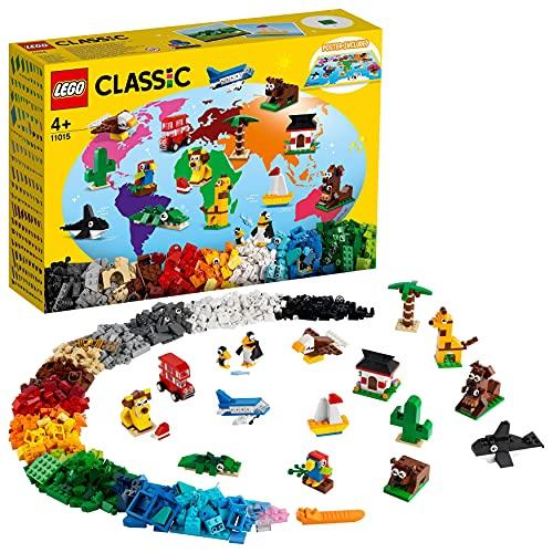 LEGO 11015 Classic Alrededor del Mundo, Set de Construcción para Niños +4 Años, Juegos...