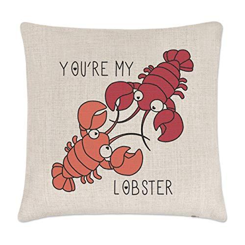 Gift Base You'Re Mon Lobster Citation Lin Housse de Coussin