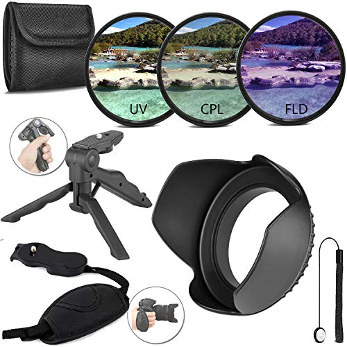 58MM Lens Filter and Accessory Starter Kit for Canon and Nikon Lenses with 58mm Filter Size