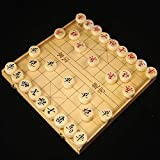 FunnyGoo Wooden box Beechwood Xiangqi Chinese Chess Set with Folding Box Chess Board 象棋 , 36x20x4cm box with 3.8cm Diameter Chess