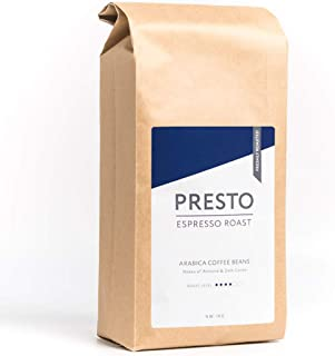 PRESTO Café en Grano Café Expreso - Café Entero Tostado Medio 1KG - Arábica Liso máquina de café - Ganador del Great Taste Award 2019