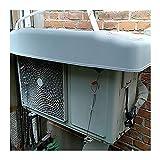 LSXIAO アウトドア エアコン カバー、 プラスチックシェル キャノピー、 雨、雪、ほこりを防ぎます インストールが簡単 ワイヤーロープ付き (Color : White, Size : 110x43x18cm)