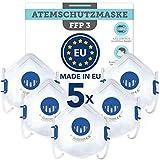 BEMS MEISTERWERK FFP3 MaskeWiederverwendbar -Made in EUCE zertifiziert (EN149:2001+A1:2009) – Premium Atemschutzmaske mit Ventil –