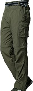 Men's Outdoor Quick-Dry Lightweight Waterproof Hiking Mountain Pants with Belt m885