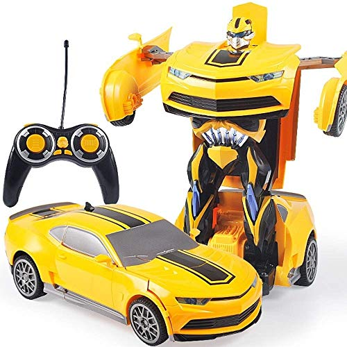 Learn More About Woote Drop Resistant Transformers Charging Remote Control Car Toy Bumblebee Racing ...