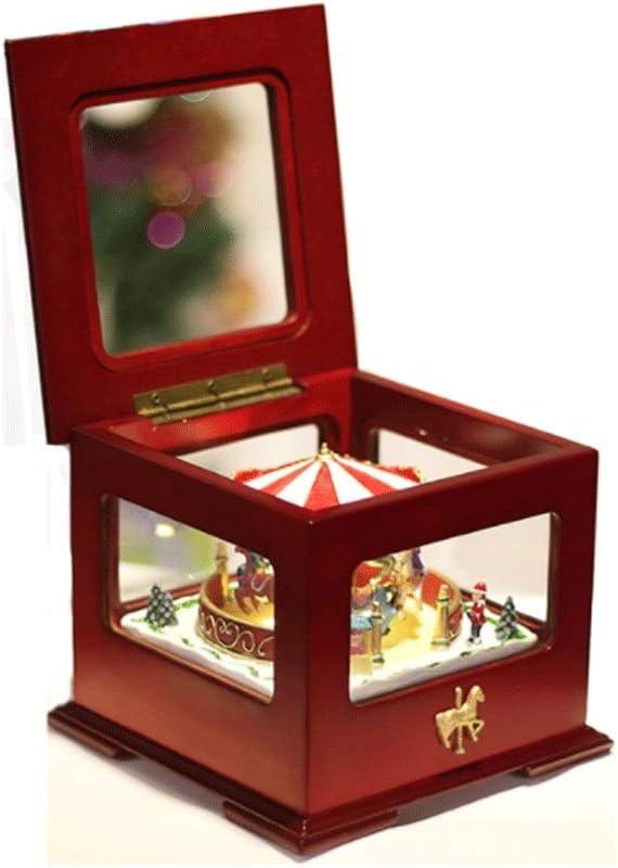 Max 63% OFF Hong Yi Fei-shop Music Box Retro Color Christmas Spin Max 65% OFF