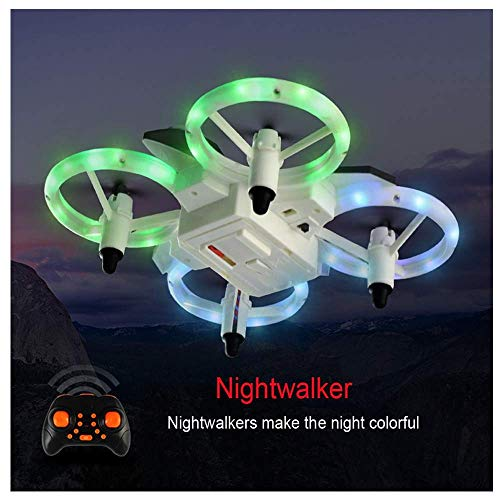 HHoo88 XXD158 2.4GHz Cool Light RC Drone Portable 6-Axis Gyroscope Headless Mode Mini RTF Quadcopter Lightweight Best Xmas Gifts for Kids Christmas(Shipping from US!!!❤️)
