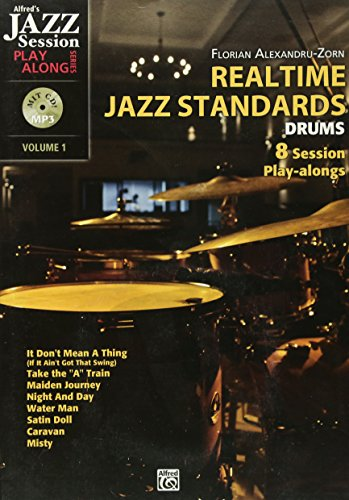 Realtime Jazz Standards für Drums - 8 Session Play-alongs